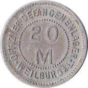20 Mark  (Weilburg an der Lahn) [POW, Hessen-Nassau] – avers