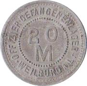 20 Mark  (Weilburg an der Lahn) [POW, Hessen-Nassau] – revers