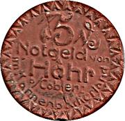75 Pfennig (Höhr) [Stadt, Rheinprovinz] – avers