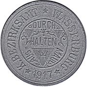 15 Pfennig (Wasserburg am Inn) [Bezirksamt, Bayern] – avers