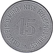 15 Pfennig (Wasserburg am Inn) [Bezirksamt, Bayern] – revers