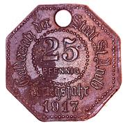 STADT 25 pfennig (Sankt-Avold) - Lothringen Monnaie de nécessité – avers