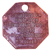STADT 25 pfennig (Sankt-Avold) - Lothringen Monnaie de nécessité – revers