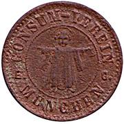 10 Pfennig (Munchen) [Private, Bayern, Consum-Verein] – avers
