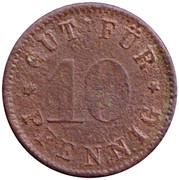 10 Pfennig (Munchen) [Private, Bayern, Consum-Verein] – revers