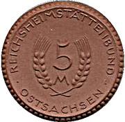 5 Mark Ostsachsen [Distrikt, Sachsen] – avers