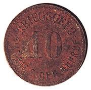 10 Pfennig - STADT GLATZ – revers