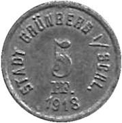 5 Pfennig (Grunberg)[Stadt, Schlesein] – avers