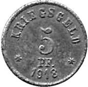 5 Pfennig (Grunberg)[Stadt, Schlesein] – revers