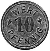 10 Pfennig (Kaiseroda, private issue)[Stadt, Sachsen/Weimer/Eisenach] – revers