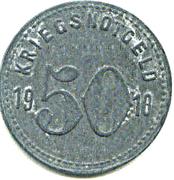 50 Pfennig (Speyer) [Kreishauptstadt, Rheinpfalz] – revers