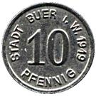 10 pfennig (Buer in Westfalen) – revers