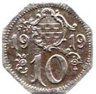 10 Pfennig (Hamm) – revers