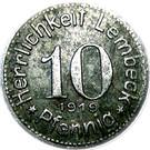 10 pfennig (Lembeck) – avers
