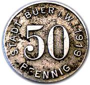 50 pfennig (Buer in Westfalen) – revers