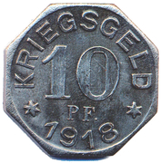 10 Pfennig (Gailsdorf) [Oberamtsbezirk, Wurttemberg] – revers