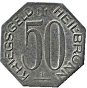 50 Pfennig (Heilbronn) – avers