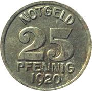 25 pfennig (Warendorf) – revers
