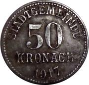 50 Pfennig (Kronach) [Stadt, Bayern] 1917 – revers