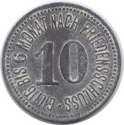 10 Pfennig Partenkirchen [Marktgemeinde, Bayern] – revers