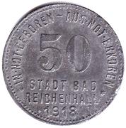 50 Pfennig Bad Reichenhall [Stadt, Bayern] – avers