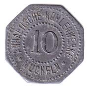 10 Pfennig Anhaltische Kohlewerke – avers