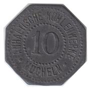 10 Pfennig (Mücheln) [Private, Sachen, Anhaltische Kohlenwerke] – avers