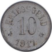10 Pfennig Neustadt an der Aisch [Stadt, Bayern] – revers