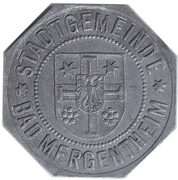10 Pfennig Bad Mergentheim [Stadtgemeinde, Württemberg] – avers