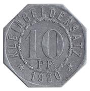 10 Pfennig Bad Mergentheim [Stadtgemeinde, Württemberg] – revers