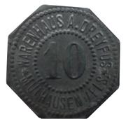 10 Pfennig - Mühlhausen im Elsass ((Mulhouse) (Warenhaus Dreyfus)) – avers