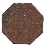 5 Pfennig (Gaildorf) [Oberamtsbezirk, Württemberg] – revers