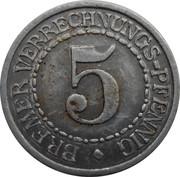 5 Verrechnungs-pfennig -  revers