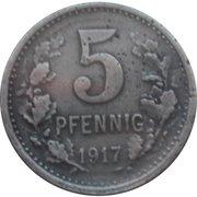 5 Pfennig (Iserlohn) – revers
