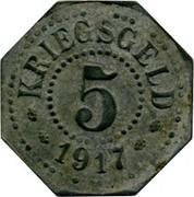 5 pfennig Saarburg-Lothringen – revers