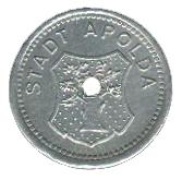 5 pfennig (Apolda) – avers
