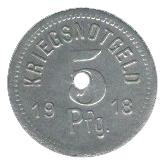 5 pfennig (Apolda) – revers