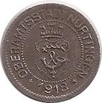 5 Pfennig (Nürtingen) [Oberamtstadt, Württemberg] – avers