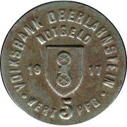 5 Pfennig (Oberlahnstein) [Private, Hessen-Nassau, Volksbank] – avers