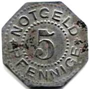 5 Pfennig  (Heiligenstadt und Worbis) – revers