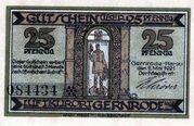 25 Pfennig (Gernrode im Harz) – avers