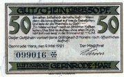 50 Pfennig (Gernrode-Harz) – avers