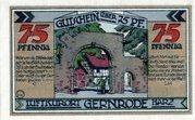 75 Pfennig (Gernrode im Harz) – revers