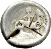"Tetradrachm (""Sattelkopfpferd"" type) – revers"