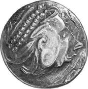 """Tetradrachm (""""Kinnlos"""" type) – avers"""