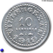 10 Centimes Ville de Gex [01] – revers