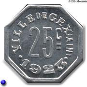 25 Centimes - Ville de Gex [01] – revers