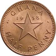 ½ penny – revers