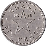 6 pence – revers