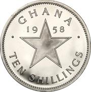 10 shillings (Indépendance) – revers